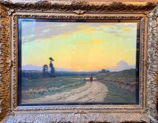 tableau Victor Brugairolles (1869-1936) - Le Retour du Berger et de son troupeau